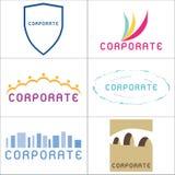 Insignias corporativas Imágenes de archivo libres de regalías