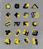 insignias de alta tecnología Dos-coloreadas Imágenes de archivo libres de regalías