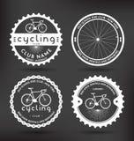 Insignias de ciclo Foto de archivo libre de regalías
