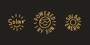 Insignias de energía solar Vector EPS 10 Fotografía de archivo libre de regalías