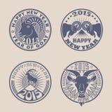 Insignias de la cabra stock de ilustración