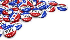Insignias de la campaña electoral de presidencial de los E.E.U.U. Fotografía de archivo libre de regalías