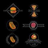 Insignias de la comida Fotografía de archivo libre de regalías