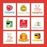 Insignias de la compañía del café Stock de ilustración