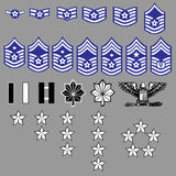Insignias de la fila de la fuerza aérea de los E.E.U.U.