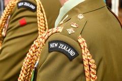 Insignias de la fila del Teniente Coronel del ejército de Nueva Zelanda Fotografía de archivo libre de regalías