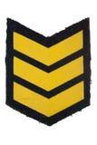 Insignias de la fila militar Fotografía de archivo