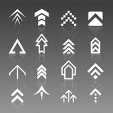 insignias de la flecha del vector