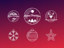 Insignias de la Navidad Foto de archivo