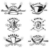 Insignias de la panadería Imagen de archivo libre de regalías