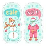 Insignias de la venta de la Navidad Imagen de archivo