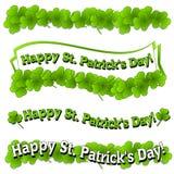Insignias de las banderas del día del St. Patrick feliz libre illustration