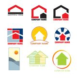 Insignias de las propiedades inmobiliarias Fotos de archivo libres de regalías