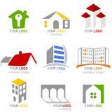 Insignias de las propiedades inmobiliarias fijadas Imagen de archivo