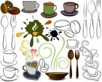 Insignias de las tazas y de las cucharas Fotografía de archivo libre de regalías