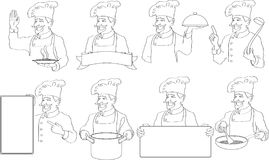 Insignias de los cocineros stock de ilustración