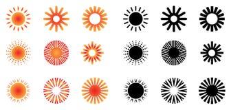 Insignias de Sun Ilustración del Vector