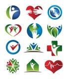 Insignias del cuidado médico Foto de archivo libre de regalías