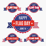 Insignias del día de la bandera de los E.E.U.U. fijadas Fotografía de archivo libre de regalías