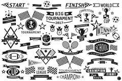 Insignias del deporte fijadas Fotos de archivo