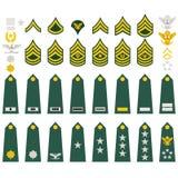 Insignias del ejército americano Fotos de archivo libres de regalías