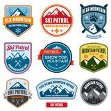 Insignias del esquí Imagen de archivo libre de regalías