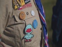 Insignias del explorador en las camisas almacen de video