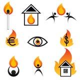 Insignias del fuego Imagenes de archivo