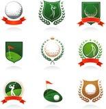 Insignias del golf Fotos de archivo libres de regalías