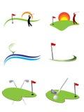 Insignias del golf Foto de archivo libre de regalías