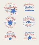 Insignias del gráfico de la elección presidencial Fotografía de archivo