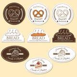 Insignias del logotipo de la panadería Foto de archivo