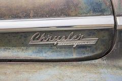 Insignias 1948 del neoyorquino de Chrysler Imagen de archivo libre de regalías