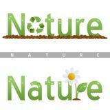 Insignias del título de la naturaleza ilustración del vector
