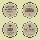 Insignias del vector del Bbq de la barbacoa libre illustration