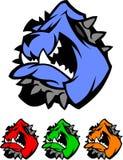 Insignias del vector de la mascota del dogo ilustración del vector