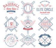 Insignias e iconos del béisbol imagen de archivo libre de regalías