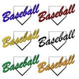 Insignias genéricas del béisbol Imagen de archivo