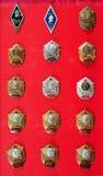Insignias, insignias del cadete Imagen de archivo libre de regalías