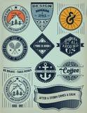 Insignias/logotipos del vintage fijados Imagenes de archivo