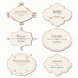 Vector set vintage labels and frames retro style. vector illustration