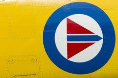 Insignias noruegas de los aviones militares Foto de archivo libre de regalías