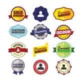 Insignias privadas de la calidad de miembro stock de ilustración