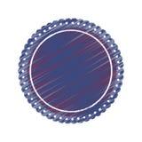 Insignias redondas de la etiqueta Imagenes de archivo