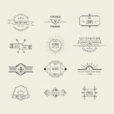 Insignias y elementos de las etiquetas Fotografía de archivo libre de regalías