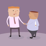 Insincere partnership. Insincere partnership, Businessman handshake with a knife hidden behind, illustration  design EPS10 Stock Photos
