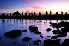 Insinuación de la mañana en la isla de la paz de Keelung Foto de archivo libre de regalías