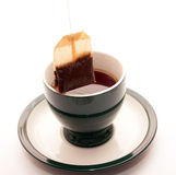 Insistencia de un bolso del té Fotografía de archivo libre de regalías