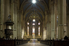 Insite a catedral imagens de stock