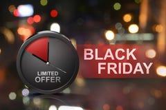 Inskränkt erbjudande på det Black Friday meddelandet royaltyfri bild